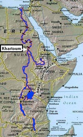 Map Of Africa Nile River  Deboomfotografie