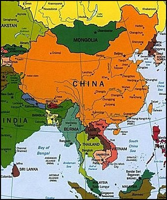 Map Of Asia And China.China And South East Asia God S Geography