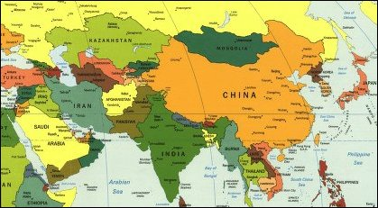 Map Of Asia Far East.The Middle And Far East God S Geography