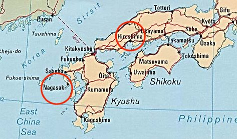 Nagasaki On World Map.Japan God S Geography