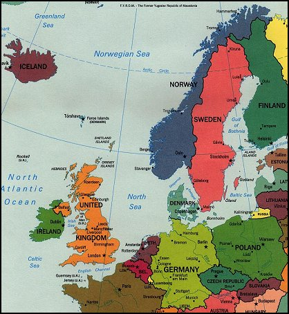 Map Of Germany And Surrounding Countries.Germany Denmark Norway And Sweden God S Geography