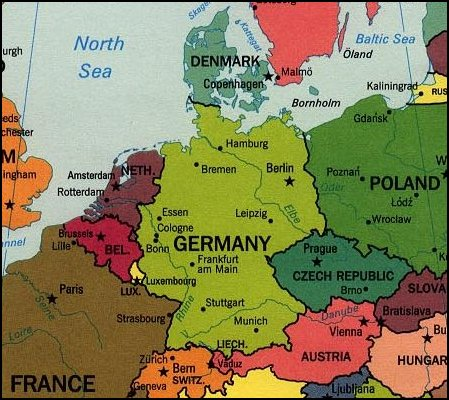 Germany, Denmark, Norway and Sweden @ God\'s Geography