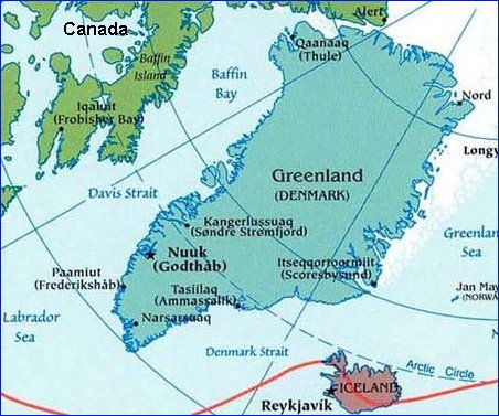 Greenland Gods Geography - Map of greenland